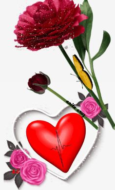 Love Heart Gif, Love You Gif, Dont Love Me, Beautiful Love Images, Good Morning Beautiful Pictures, Beautiful Bouquet Of Flowers, Beautiful Roses, Gifs Ideas, Butterfly Gif