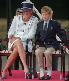 Diana, Princess of Wales and Prince Harry.