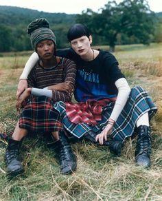 Naomi Campbell & Kristen Mcmenamy for Vogue, 1992.