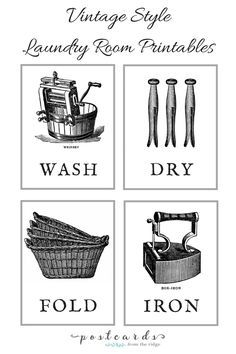 Love these vintage laundry room printables. Lots of small laundry room ideas. Tiny Laundry Rooms, Laundry Room Art, Laundry Decor, Laundry Room Signs, Laundry Closet, Laundry Room Organization, Laundry In Bathroom, Laundry Storage, Laundry Nook
