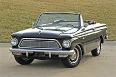 Convertible Rambler - look at that beautiful car. awwwww.