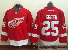 NHL Detroit Red Wings #25 Mike Green Red Jerseys