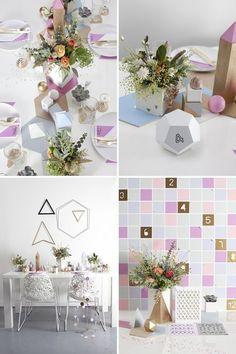 Геометрические формы в свадебном декоре