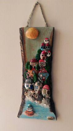 As if Gökova - thea Stone Crafts, Rock Crafts, Diy And Crafts, Arts And Crafts, Rock Flowers, Art Flowers, Stone Art Painting, Inspiration Artistique, Painted Rocks Craft