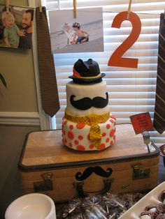Little Man Birthday Cake / Mustache Bash