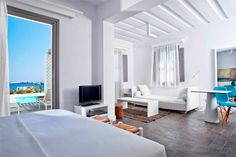 Located in Folegandros, an island that has kept its Aegean legacy untouched by time, Anemi boutique hotel was created to guarantee an amazing hospitality experience combining contemporary design and Cycladic architecture. Greece Hotels, Superior Room, Global Style, Soothing Colors, Space Architecture, Hotel Reviews, Contemporary Design, Modern Furniture, Relax