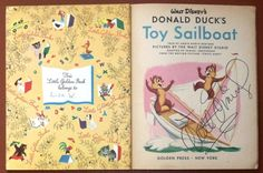 Donald Duck Book Signed by Walt