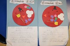 "Snowman ""soup"" writing activity"