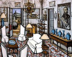 Bernard BUFFET ( 1928 - 1999 ) - Peintre Francais - French Painter La Baume, l'entrée