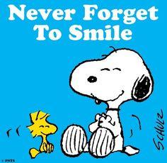 Smile quote via www.Facebook.com/Snoopy
