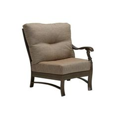 Tropitone Ravello Left Side Crescent Module Chair with Cushion Finish: Obsidian, Fabric: Sparkling Water