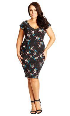 5760694079f Shop Women's Plus Size Women's Plus Size Floral Tulip Dress | City Chic USA