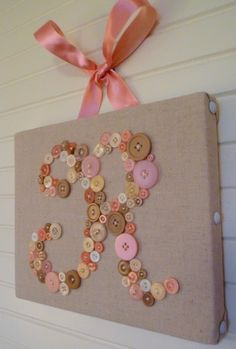 Baby Nursery Wall Art, Children Wall Art, Nursery Monogram Letter Canvas, Unique Baby Shower Gift  -- by Letter Perfect Designs