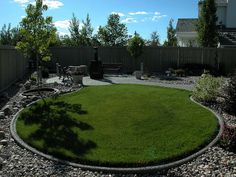 Such a simple backyard! Curious if the #artificialgrass area is covering a converted underground pool?