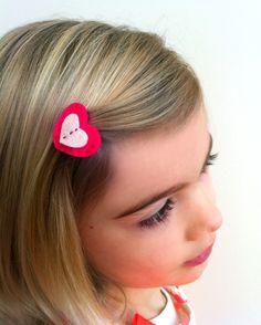 valentine heart barrette tutorial