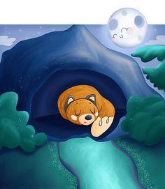 Sleepy Fox by Vero Parra