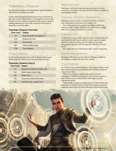 SPATIAL AND TEMPORAL DOMAINS —so temporal domain is my giveaway request for but i went a little but overboard and added spatial domain for fun. Dungeons And Dragons Classes, Dungeons And Dragons Characters, Dungeons And Dragons Homebrew, Dnd Characters, Fantasy Characters, Cleric Domains, Fantasy Character Design, Character Creation, Character Concept