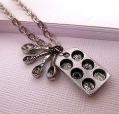 Muffin Pan Necklace with Measuring by FashionCrashJewelry