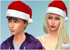 Santa Hat at David Sims via Sims 4 Updates David Sims, Sims 4 Cc Skin, Sims Cc, Sims 4 Blog, The Sims 4 Pc, Cc Hats, Sims 4 Gameplay, Sims 4 Cc Shoes, Sims 4 Cc Makeup