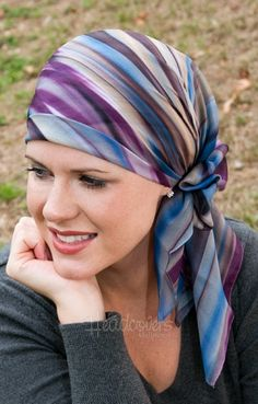 square head scarf for cancer and chemo hair loss