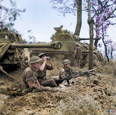 The Battle of Monte Cassino was a costly series of four assaults by the Allies against the Winter Line in Italy held by Axis forces during the Italian Campaign of World War II. The intention was a breakthrough to Rome the photo shows the allies over looking casino,