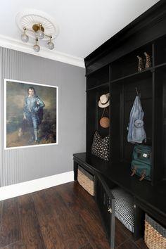 Candy Stripe Wallpaper, The Blue Boy, Mudroom Cubbies, Herringbone Wallpaper, Huge Closet, The Tile Shop, Challenge Week, Candy Stripes, Design Consultant