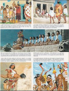 The Aztecs - Arriving of the young men at the military school for commoners, the Telpochcalli Conquistador, Aztec Empire, Aztec Culture, Aztec Warrior, Inka, Aztec Art, Mesoamerican, Mexican Art, Ancient Civilizations