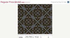sale Doodlebug Designs Black Trick or Treat Damask - 1/2 Yard. $3.83, via Etsy.