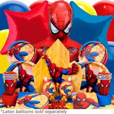 Spiderman Party Deluxe Birthday Box