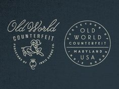 Old world counterfeit.