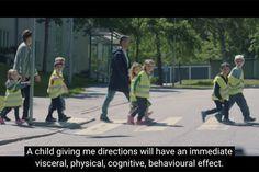 Para reduzir a velocidade perto de escolas, um GPS com voz de criança - Blue Bus