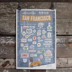San Francisco Poster By Jim Datz $60