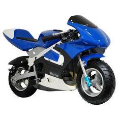 Big Toys MotoTec Pocket Motorcycle Color: Blue