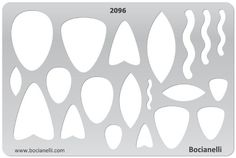 PENDANT SHAPES 2096 - Design Template Stencil for Jewelry Making Drawing and Drafting -