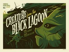 Classic film poster: Creature from the Black Lagoon