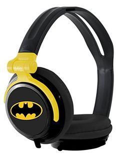 iHip DCF2400BM Classic Batman Logo Hi-Fi Noise Reducing, Folding Headphones Black/Yellow
