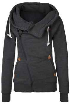 Cupshe Warm It Up Zip Hooded Sweatshirt