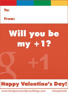 A Valentine for the Google+ user in your life! #soup2nuts #valentines