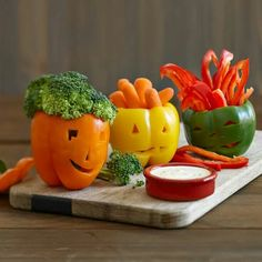 Easy and appealing healthy halloween snack !