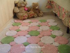 marcia sartori crochetando: Tapete Bolas Verde e Rosa