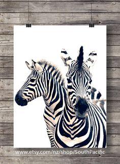 Zebra Art Print | Zebra | Sepia Zebra Photo | Printable Wall Art | Safari  Decor