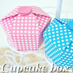 scatolina per cupcake da stampare