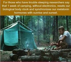 This must be why I love camping so much. I do seem to sleep better after a camping trip. Camping And Hiking, Camping Survival, Camping Hacks, Camping Ideas, Backpacking, Emergency Preparedness, Scout Camping, Hiking Gear, Survival Tips