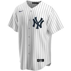 Men's New York Yankees Nike White Home 2020 Replica Team Jersey Camisa Baseball, Baseball Jersey Outfit, Baseball Jerseys, Jersey Shirt, New York Yankees, Yankees Team, Yankees Logo, Mlb, Clint Frazier