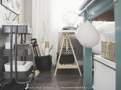 ikea raskog cart ideas for storing office supplies and craft stuff in this cute gray trolley style cart
