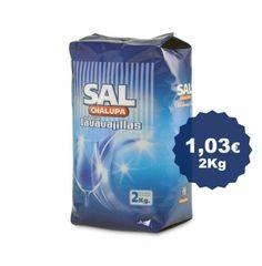 Sal lavavajillas en sacos de 2 kg. Muy apropiada como descalcificador para lavavajillas.