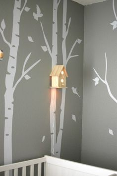 I like some of the details on this - like the bird house night light. And I love the tree idea,