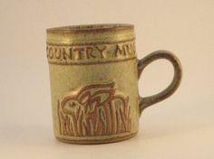 Rabbit Mug by Tremar Cornish Pottery by TheKnally on Etsy