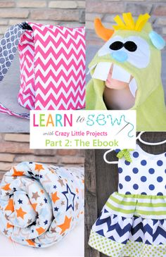 Learn to Sew Lessons Online with Crazy Little Projects