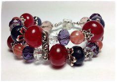 Edelsteine Armband Bracelet Jewelry Violett  Rot orange purple